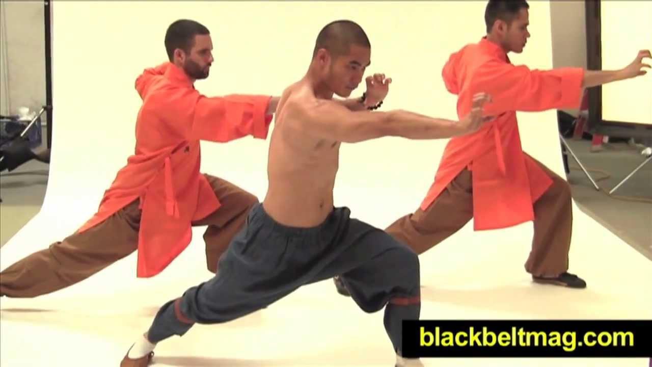 Shaolin kung fu training exercises