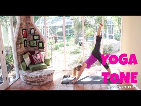 yoga for weight loss  40 minute fat burning yoga tone workout