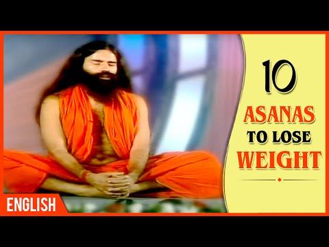 10 asanas to lose weight  baba ramdev yoga  english